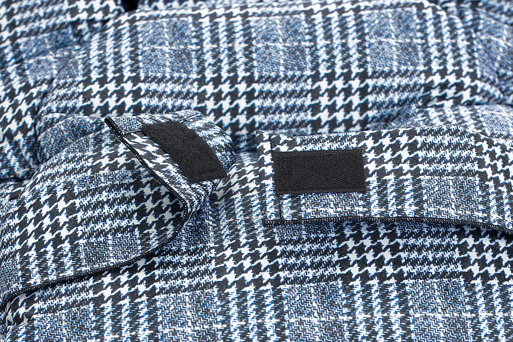 Odenw/älder Fu/ßsack Mucki L Fashion Glencheck Farbe 1050 Graphite